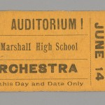 Orchestra Ticket. Virginia Baptist Historical Society.