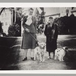 May Keller walking her dog, Virginia Baptist Historical Society