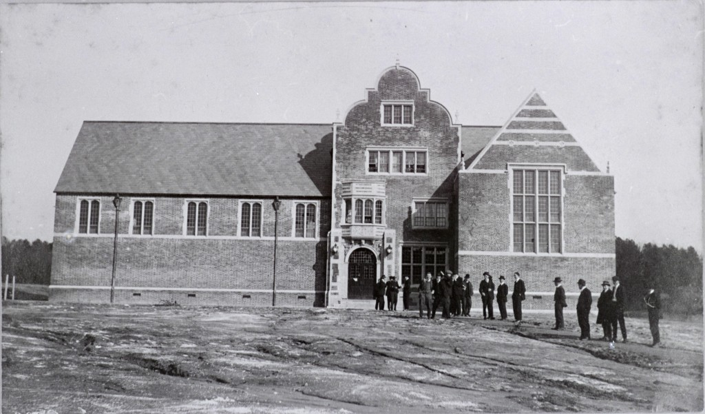 Sarah Brunet Memorial Hall, also known as the Refectory, was built to be a dining hall.