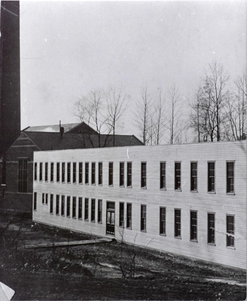 The Science Hall, which burned down in 1925, was originally next to the Steam Plant.