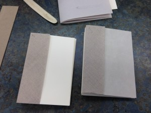 Endsheets with airplane linen hinges