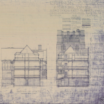 Building plan for Thomas Hall