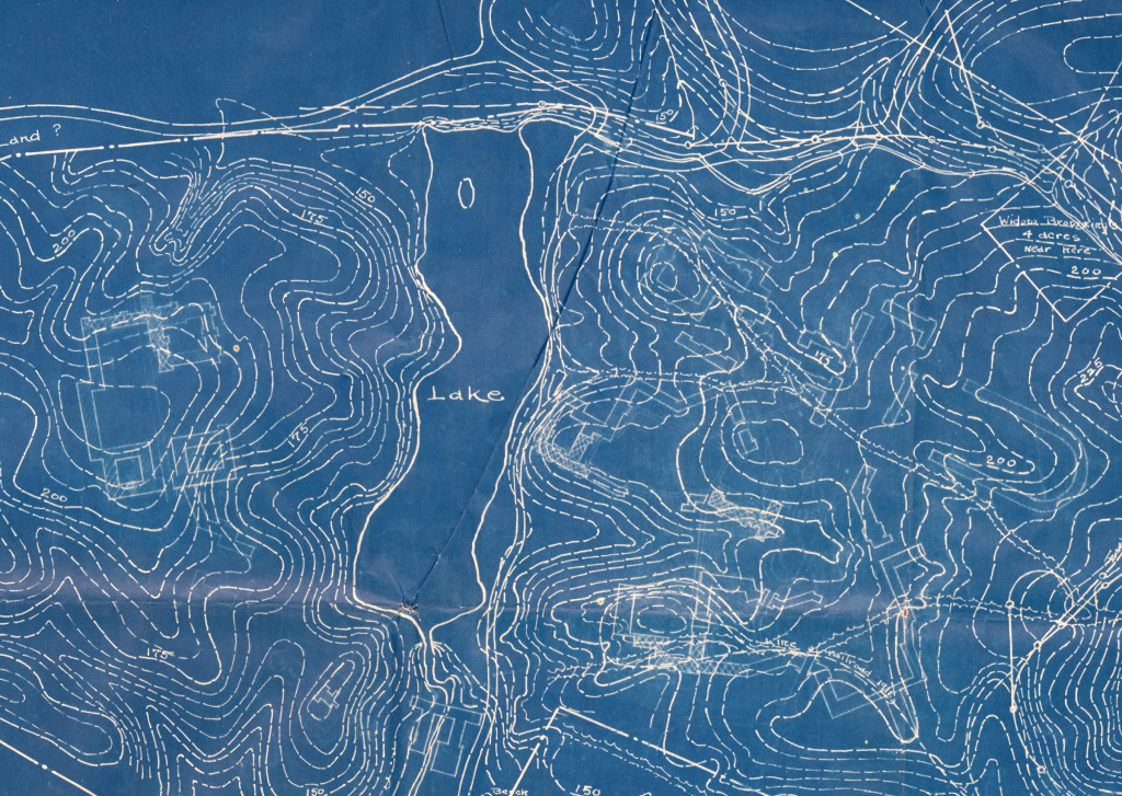 A portion of the campus area topographic map at the VBHS.